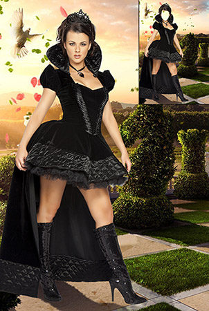 Женский фотошаблон - Шахматная королева