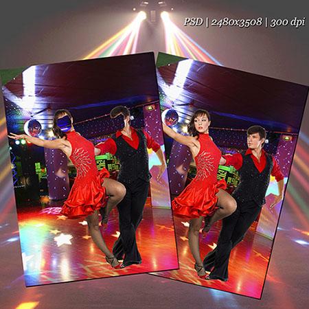 psd шаблон - Танец страсти