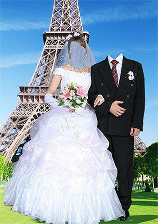 Фотошаблон - Жених и невеста