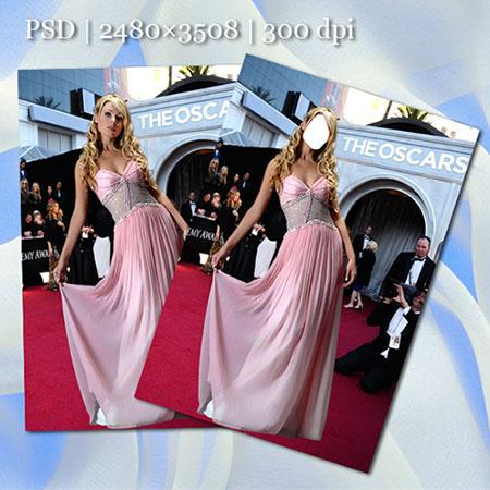 Женский фотошаблон - На «На Оскаре»