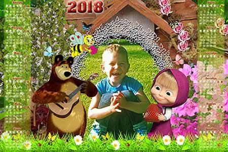 Календарь - Лето с Машей и медведем