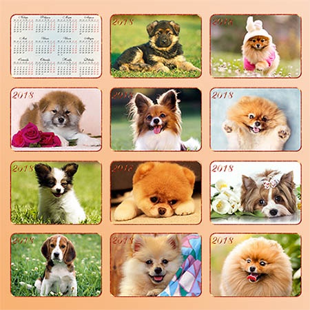 Карманные календари - Собаки