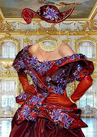 Женский фотошаблон - Придворная дама