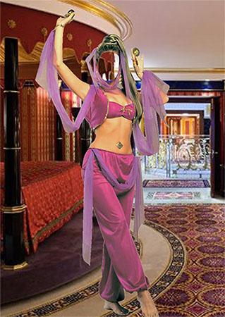 Женский фотошаблон - Восточная танцовщица