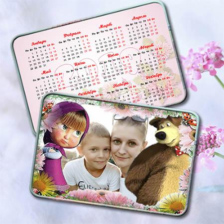 Карманный календарь на 2019 год - Маша и медведь