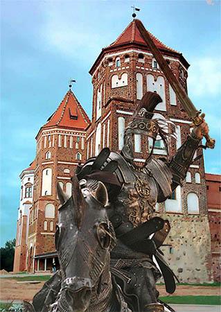 Фотошаблон - Рыцарь на коне