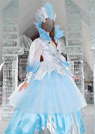 Женский фотошаблон - Снежная королева