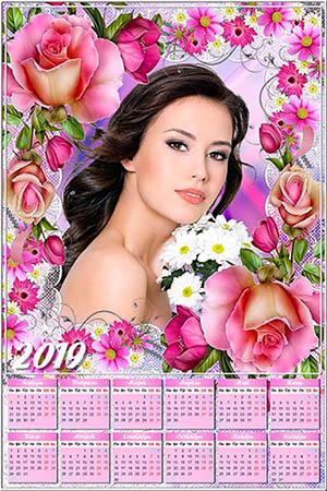 Календарь на 2019 год - Цветочное настроение