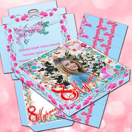 Шокобокс в подарок на 8 марта - Орхидея