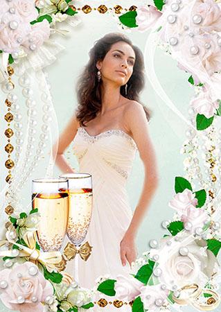 Свадебная рамка - Жемчуг для невесты