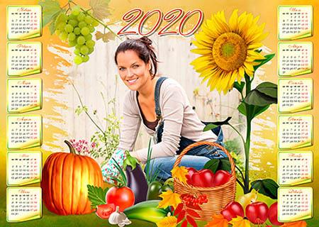 Календарь на 2020 год - Дары осени