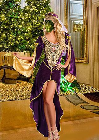 Шаблон женский карнавальный костюм - Королева престолов
