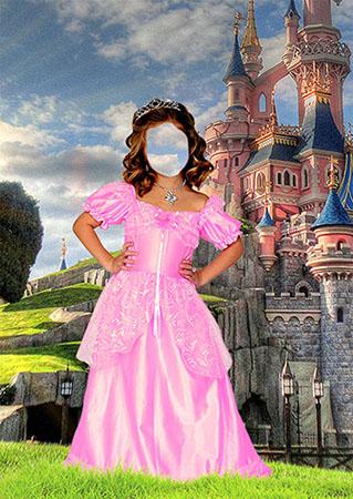 Шаблон psd девочки в костюме принцессы
