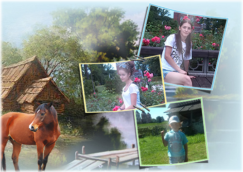 Летняя рамка - Лето в деревне
